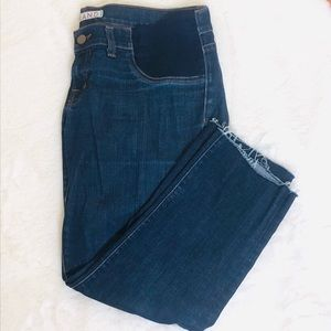J brand Cropped Distressed Maternity Jeans